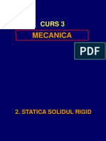 Mecanica  Curs3. Statica