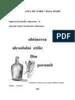 Obtinerea Alcoolului Etilic Din Porumb