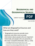 Biographical-Geographical PowerPoint
