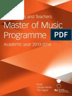 HANDBOOK Master of Music 2013-2014