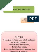 Dukungan Terapi Gizi Pasca Operasi