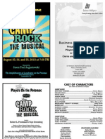POP Camp Rock Playbill Summer 2012