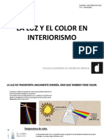La Luz y El Color en Interiorismo