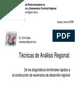 Técnicas de Análisis Regional