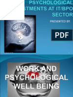 Work Psychology (Psychological Adjustments at IT/BPO sector)