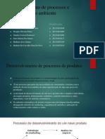 Desenvolvimento de Processos e Produtos e Meio Ambiente