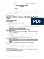 Caracterización - Proceso barandales