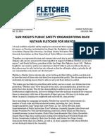 Public Safety groups endorse Fletcher