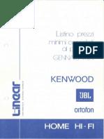 JBL - Listino Prezzi Home Hi-Fi (1984-01)