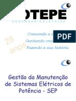 Gestão da Manutenção de Sistemas Elétricos de Potência - SEP