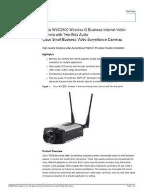 ENTERPRISE Cisco WVC2300 Wireless-G Business Internet Security Video Camera w//Audio CISCO SYSTEMS