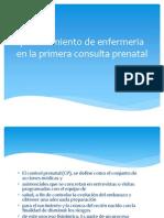 Procedimiento de Enfermeria en La Primera Consulta Prenatal