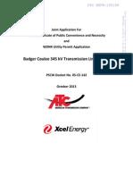 ATC/Xcel Joint Application
