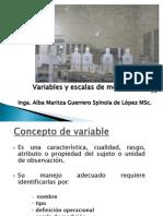 Variables y Escalas de Medicin