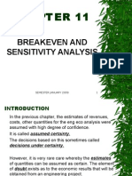 Engeco Chap 11 Breakeven and Sensitivity Analysis
