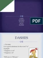 Italics Dash Hyphen Bold