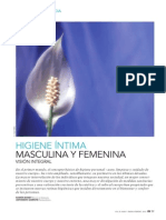 Higiene íntima masculina y femenina