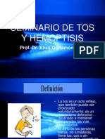 tos y hemoptisis