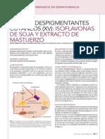 Nuevos despigmentantes cutáneos Isofiavonas de soja y extracto de mastuerzo
