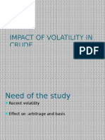 Impact of Volatility on Crude Oil Prices in Arbitrage