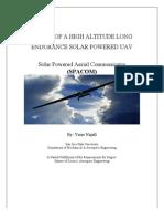 Design of a High Altitude Long Endurance Solar Powered UAV