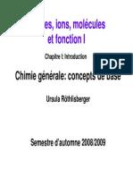 chimie générale comcept de base