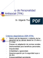 Trastorno de Personalidad Antisocial (TPA)