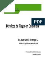 Clasificacion_distritos de Riego_juan Camilo Restrepo Ministro de Agricultura