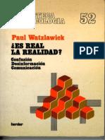 es real la realidad de paul watzlawick pdf