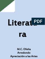 Literatura. Documento de Apoyo Para Evidencia 3