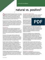 Derecho Natural Contra Derecho Positivo