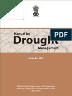 Govt India Drought Manual