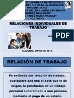 DIAPOSITIVAS RELACIÓN DE TRABAJO