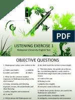 Muet Listening Exercise 1 2013