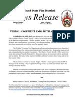 2013-10-21 Charles House Fire Arrest Waldorf