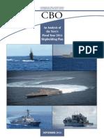 CBO Report on Navy 2014 Shipbuilding Plan