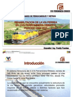 Rehabilitacion via Ferrea Cvg Ferrominera Orinoco 2004-2011-100120102234-Phpapp02