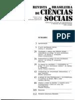 Revista brasileira de ciências sociais n 4 vol 2 (artigo de Jeffrey Alexander e análises)
