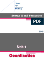 Syntax II and Semantics Coordination
