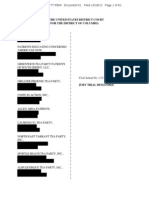 Second Amended Complaint Filed Redacted Lawsuit against the IRS