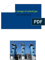 Gas Storage in Aquifers and Salt Caverns