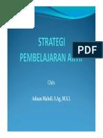 Strategi Pembelajaran Aktif, Adnan Mahdi