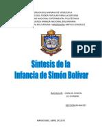 sintesis DE SIMÓN BOLÍVAR