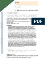 Epigenetics in Developmental Disorder ADHD And
