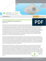 Countering Customer's Cloud Security Concerns