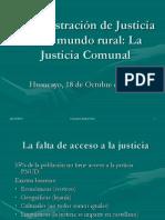 La Justicia Comunal en Las Propuestas de La CERIAJUS. Last