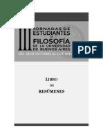 Libro de resúmenes III Jornadas UBA