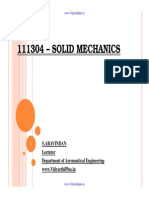 Solid Mechanics Notes