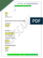 GK Quiz - 22 October 2013 Answer Sheet