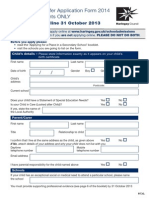 Haringey Secondary School Application Form